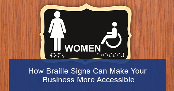 Braille signs for visually impaired